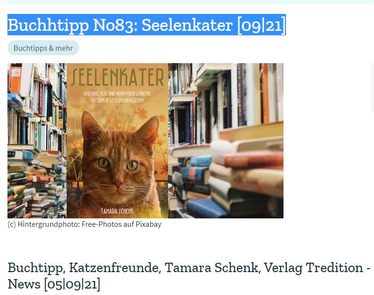 Petdoctors.at | Seelenkater | Tamara Schenk